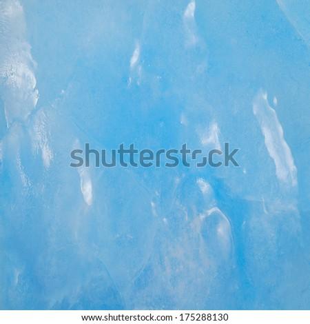 Melting ice surface. - stock photo