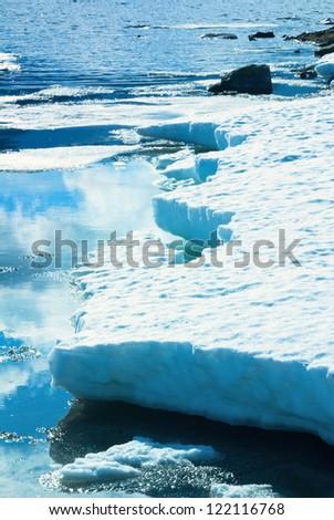 melting iceberg in Norway - stock photo