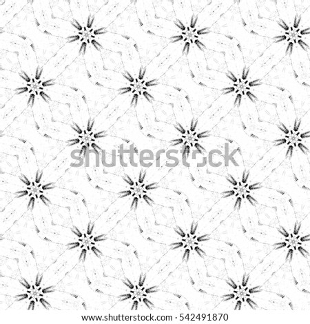 Melting seamless black and white sloping kaleidoscopic pattern for background and wallpapers