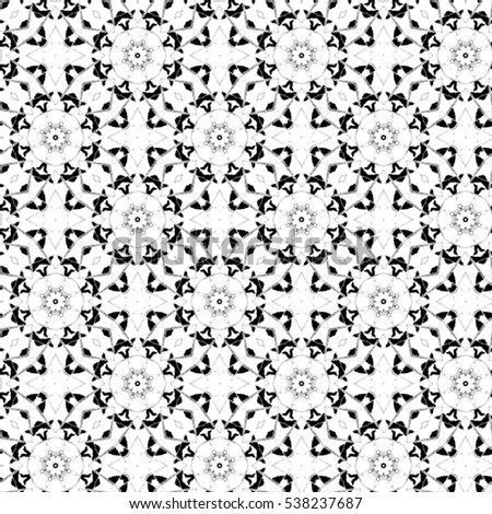 Melting seamless black and white sloping kaleidoscopic pattern for backgrounds and wallpapers