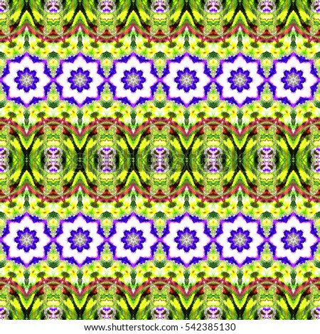 Melting seamless colorful kaleidoscopic pattern for design, textile and background