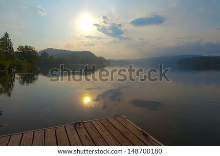 Melton Hill Lake, Oak Ridge, Tennessee - stock photo