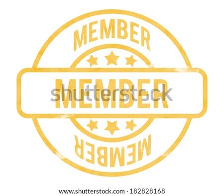 Member Stamp - stock photo