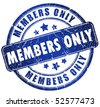 Members only stamp - stock photo