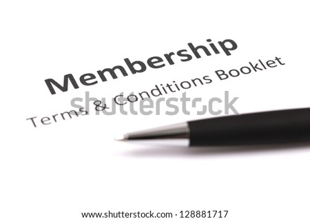 membership and terms & conditions booklet