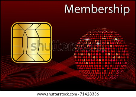 Membership Card - stock photo