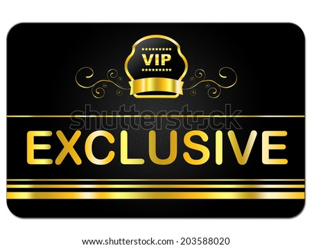 Membership Card Representing Very Important Person And Exclusive Privilege - stock photo