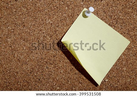 memo board with empty note on white backgroun - stock photo