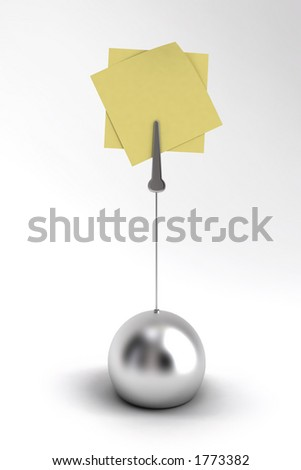 Memo holder on white background - stock photo