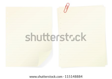 Memo notes isolated on white background color - stock photo