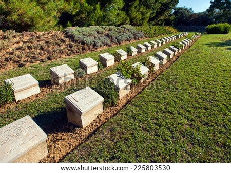 Memorial at the Gallipoli Battle fields in Turkey - stock photo