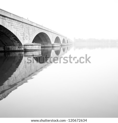 Memorial Bridge, Washington DC - stock photo