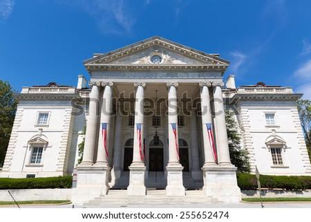 Memorial Continental Hall building in Washington DC USA - stock photo