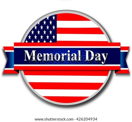 Memorial day, blue tag, web banner