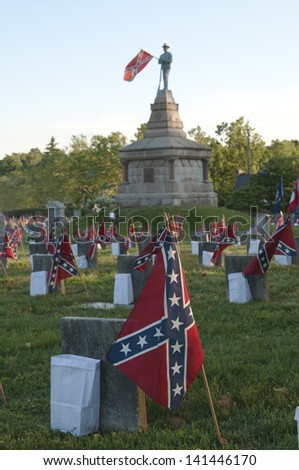 Memorial Day Confederate Style - stock photo