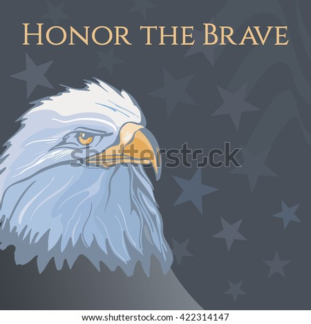 Memorial Day illustration with the lettering honor the brave