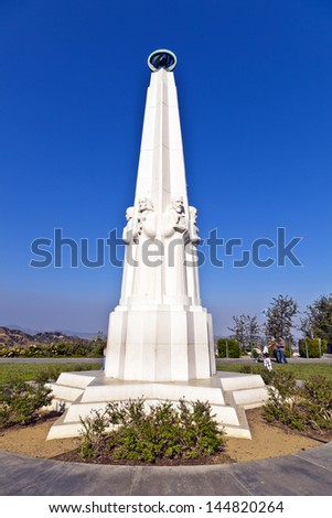 memorial of famous scientists at Griffith observatory in Los Angeles - stock photo