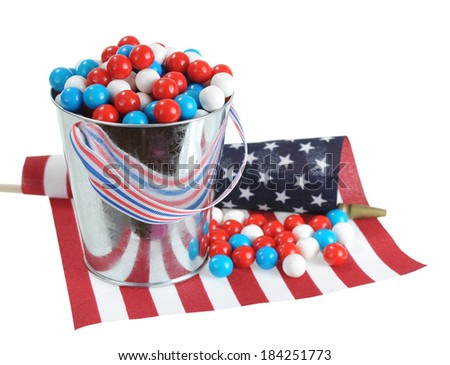 Memorial or Independence Day candy on national flag