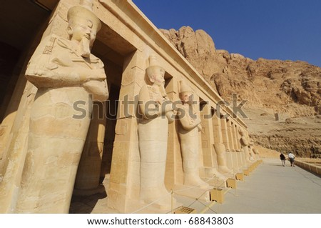 Memorial Temple of Hatshepsut. Luxor, Egypt - stock photo