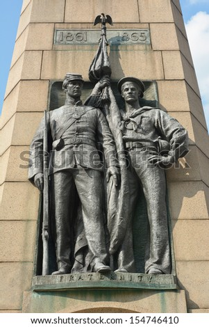 Memorial to the Grand Army of the Republic of the Civil War in Washington  - stock photo
