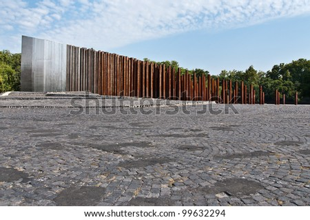 Memorial to the 1956 Hungarian Revolution,Budapest - stock photo