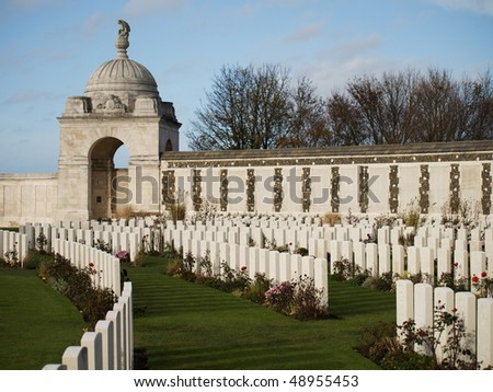 Memorial to the Missing at Tyne Cot Commonwealth Cemetery near Ypres, Belgium