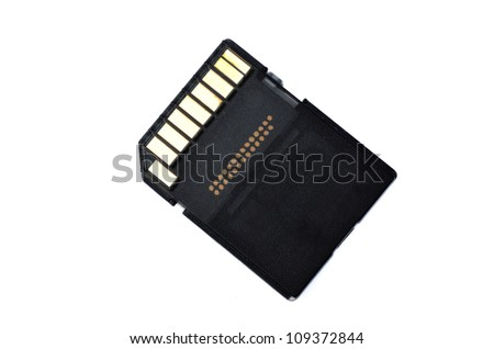 memory card - stock photo