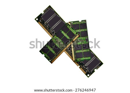 Memory Chips isolated on white