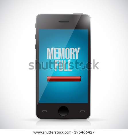 memory full. no storage space phone illustration design over a white background