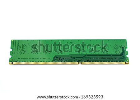 memory module (DDR3)  isolated on white background