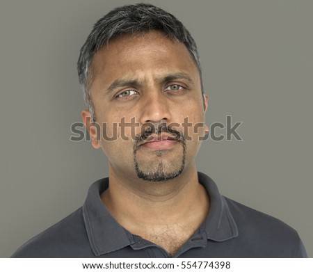 Men Adult Serious Expression Studio