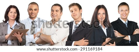Men, Business, Isolated. - stock photo