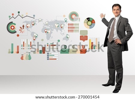 Men, Business, Presentation. - stock photo