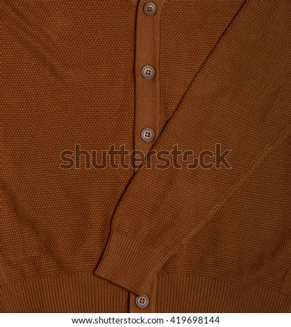 men cardigan with buttons - stock photo