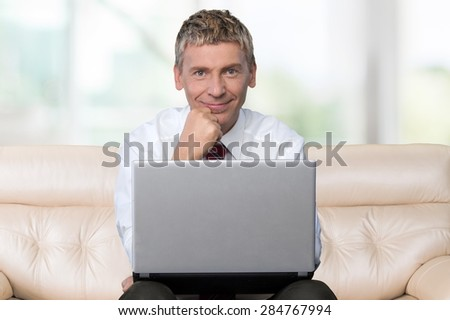 Men, Computer, Laptop.