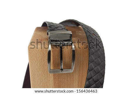 Men fashion belt on white background