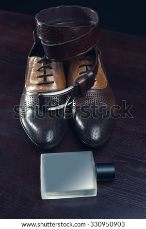 Men fashion. Men accessories, Still life. Business look