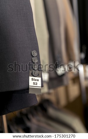 Men Fashion Suites at Men Fashion Store - stock photo