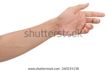 Men hands sign isolated is on white background