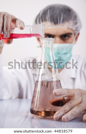Men in laboratory