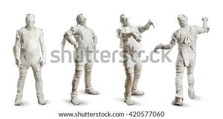 Men in toilet paper - stock photo