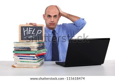 Men looking for help - stock photo