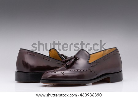 Men modern leather shoes