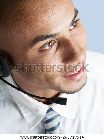 Men, On The Phone, Telephone. - stock photo