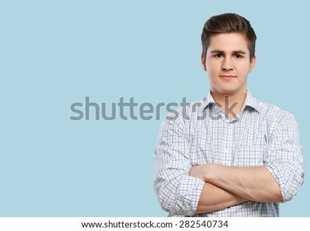 Men, Portrait, Human Face. - stock photo