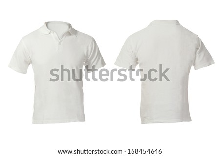 Mens Blank White Polo Shirt Front Stock Photo & Image (Royalty-Free ...