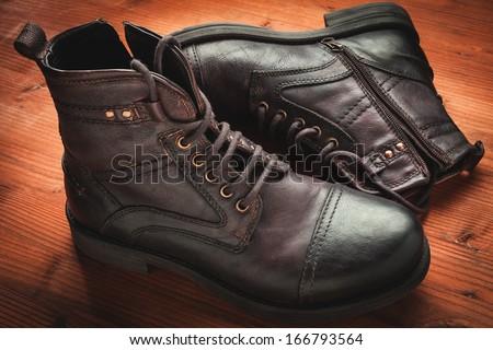 men's boot  - stock photo