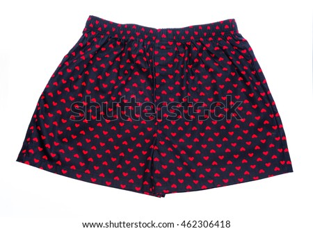 Men's boxer shorts isolated on white background.