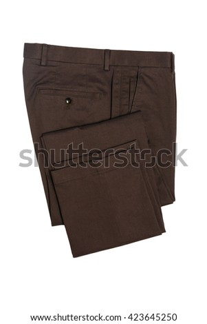 Men's casual pants - stock photo