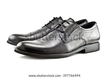 Men's classic shoes isolated on white background stock photo